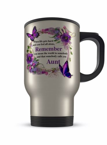 14oz That Somebody Calls You... Floral Aluminium Travel Mug